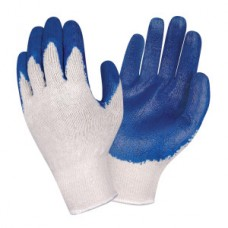 Blue Latex Coated Knit Gloves