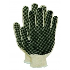 Gloves - String Knit With Dots