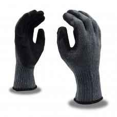 Gloves - Black Crinkle Latex Coated - 12 Pairs