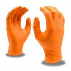 Disposable Orange Nitrile Gloves