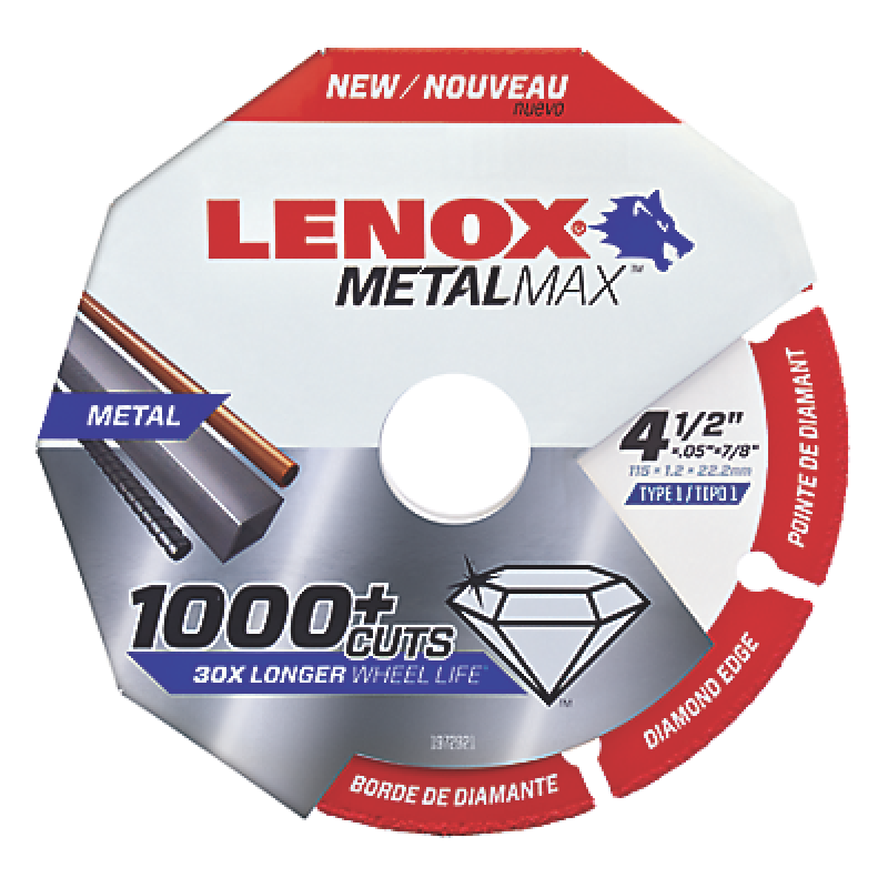 "LENOX METALMAX™ 4.5"" x .050 7/8"" Arbor 1972921 in Packaging"