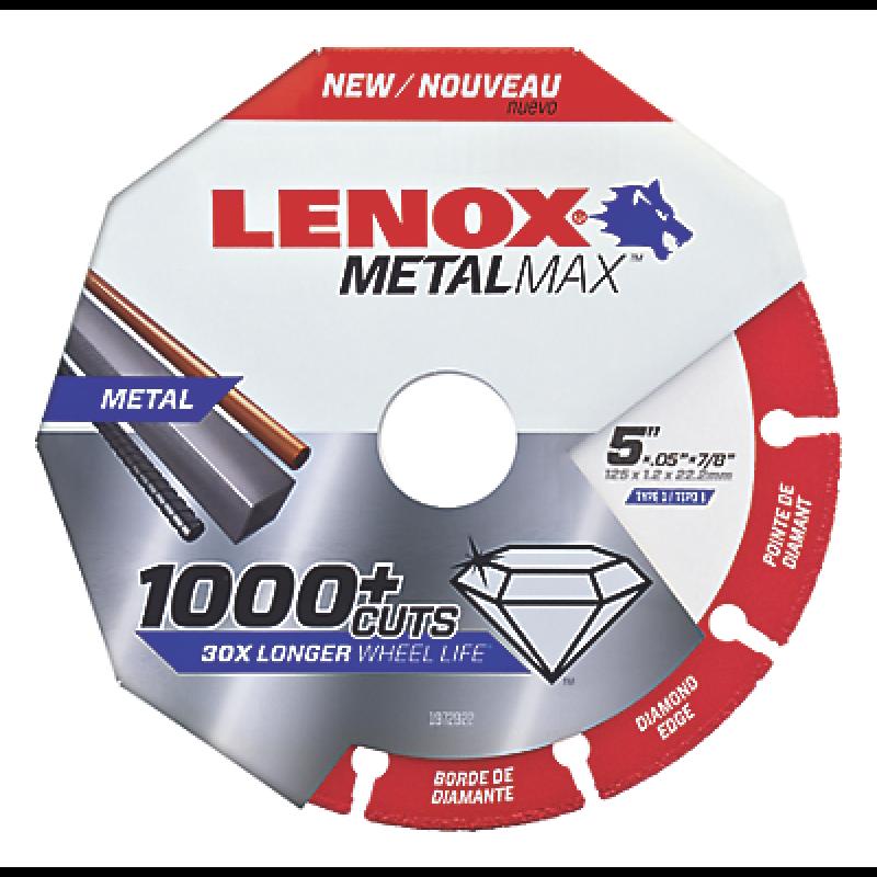 """LENOX 1972922 5/"""" x 7//8/"""" Arbor MetalMax Diamond Edge Metal Cutoff Wheel"""