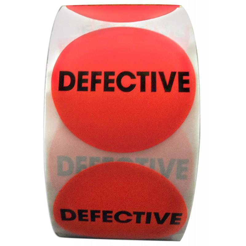 "2"" Circle Defective Labels"