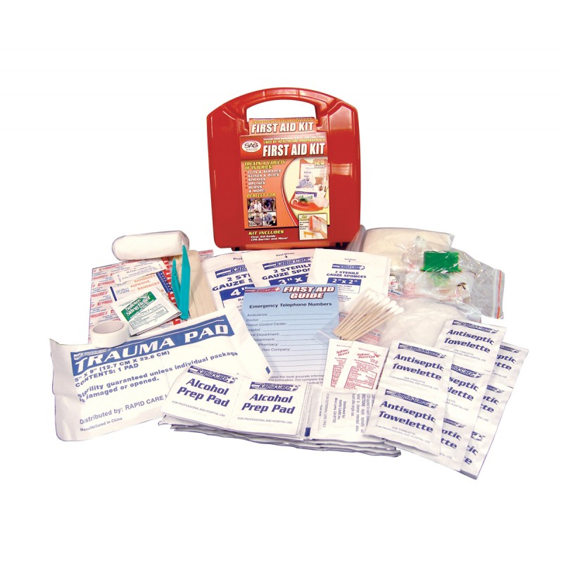 First Aid Kit 25 Person Plastic Case