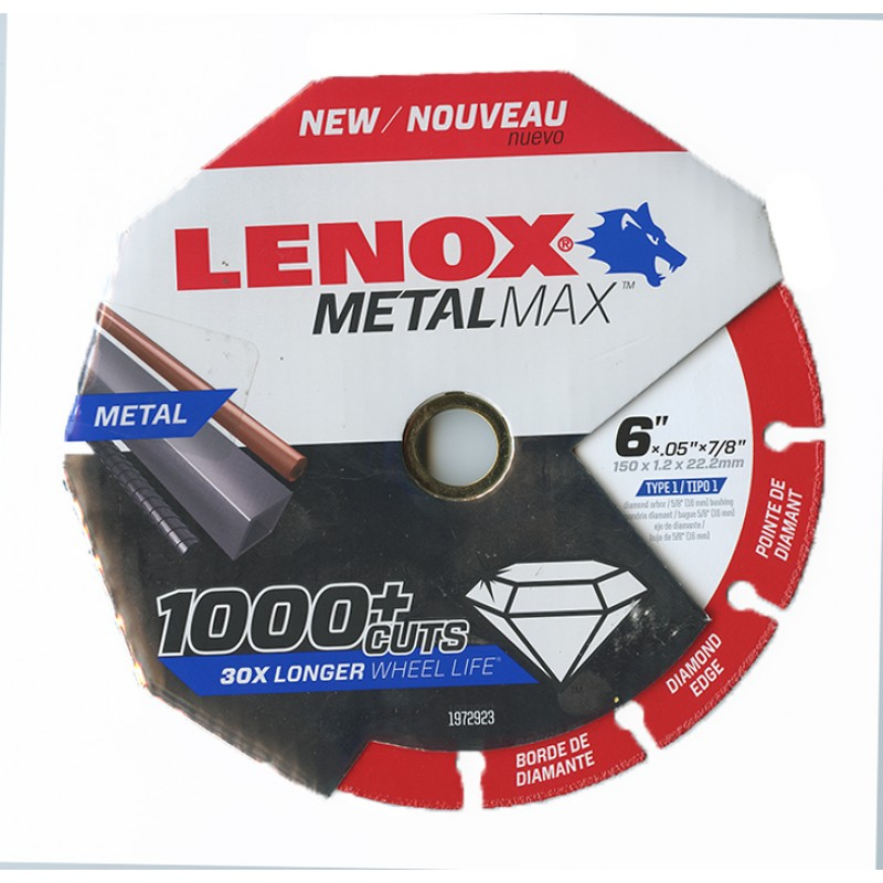 "LENOX METALMAX™ 6"" x .050 7/8"" Arbor in Packaging"