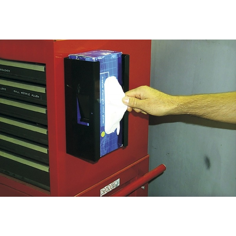 Magnetic Disposable Glove Dispenser Lisle 20130 in Use