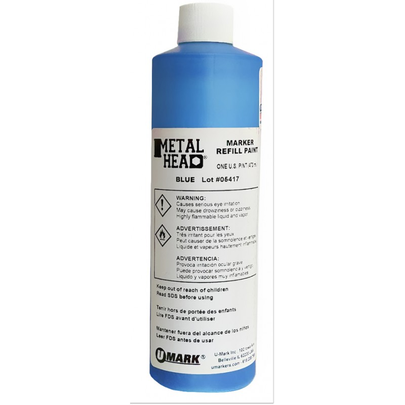 METALHEAD Pint Paint Refills Blue- CF RECYCLER SUPPLY