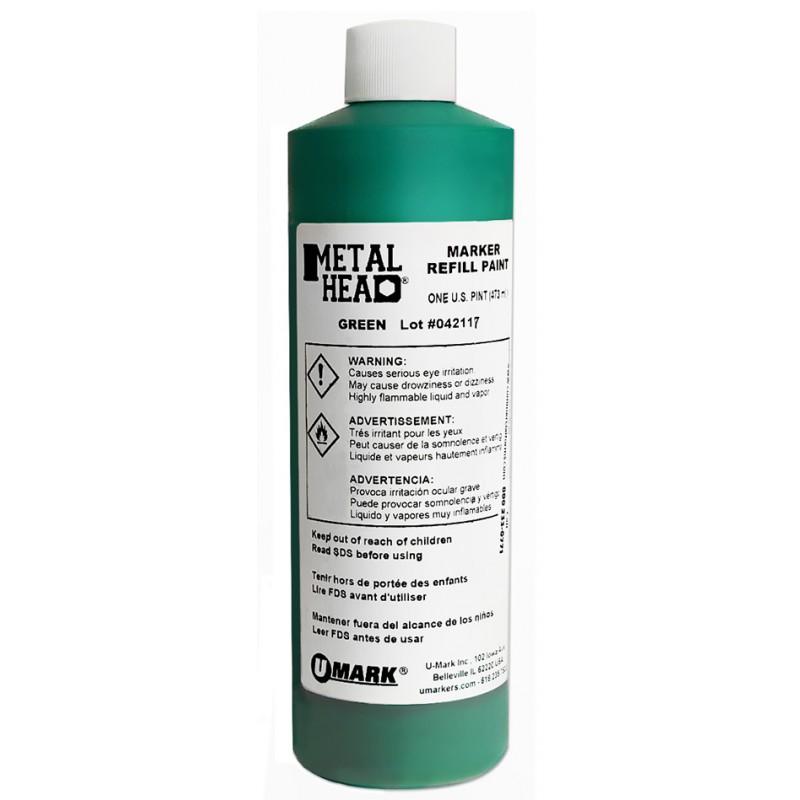 METALHEAD Pint Paint Refills Green- CF RECYCLER SUPPLY