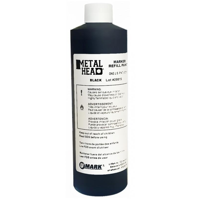 METALHEAD Pint Paint Refills Black- CF RECYCLER SUPPLY