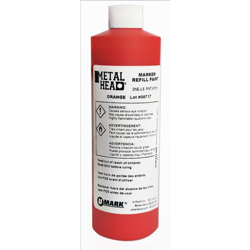 METALHEAD Pint Paint Refills Orange- CF RECYCLER SUPPLY