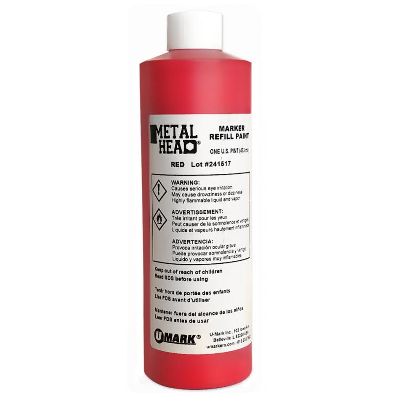 METALHEAD Pint Paint Refills Red- CF RECYCLER SUPPLY