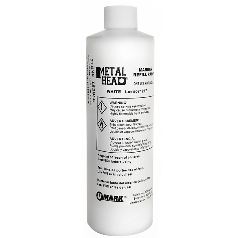 METALHEAD Pint Paint Refills White- CF RECYCLER SUPPLY