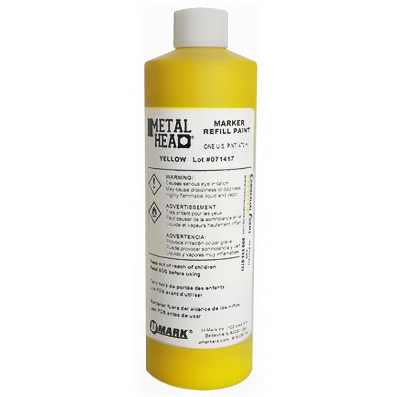 METALHEAD Pint Paint Refills Yellow- CF RECYCLER SUPPLY