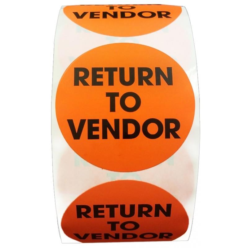 RETURN TO VENDOR CIRCLE LABELS