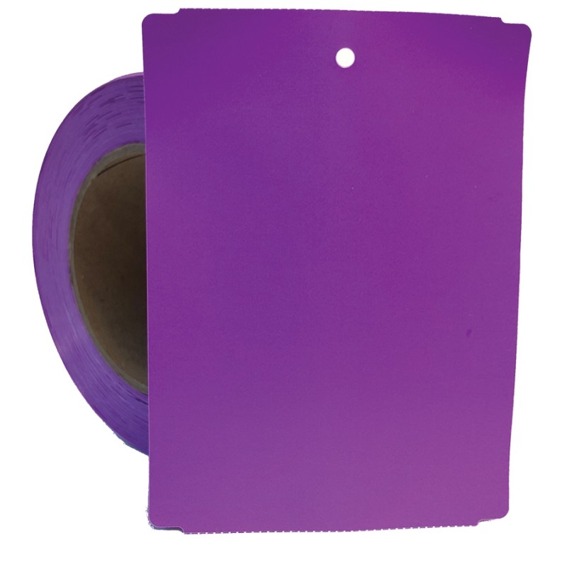 Purple Thermal Transfer Poly Tag Stock