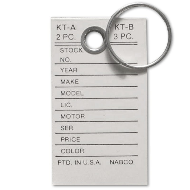 Key Tags - With Rings