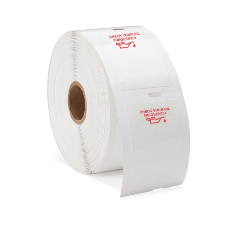 Slip N Grip Auto Service Reminder Labels Red Oil Can