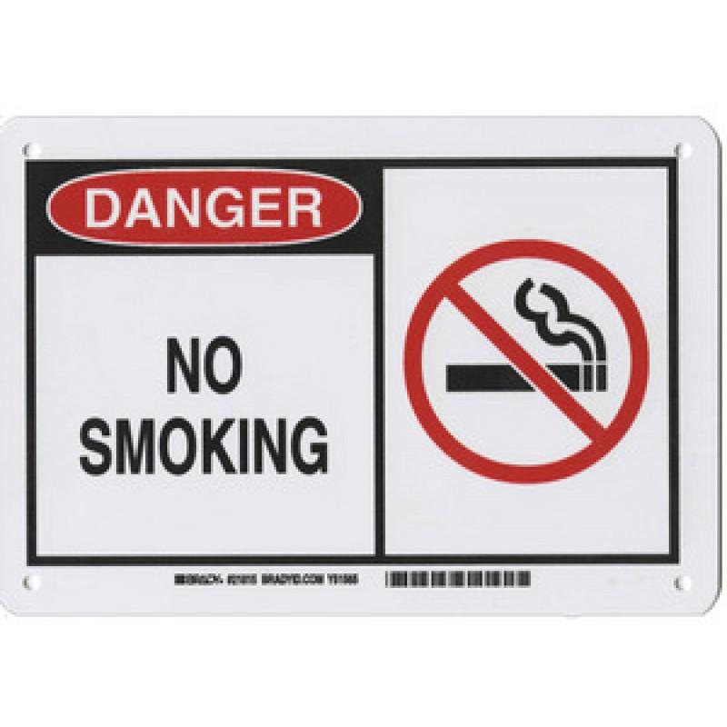 Warning Sign-DANGER NO SMOKING<br>Aluminum