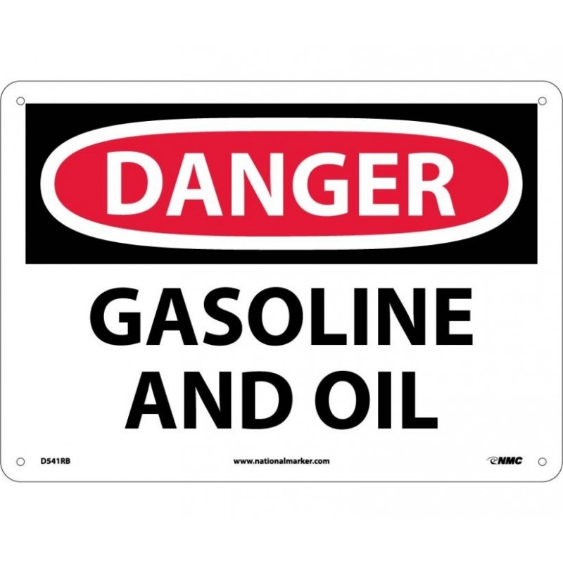 warning Sign-DANGER GASOLINE AND OIL Plastic
