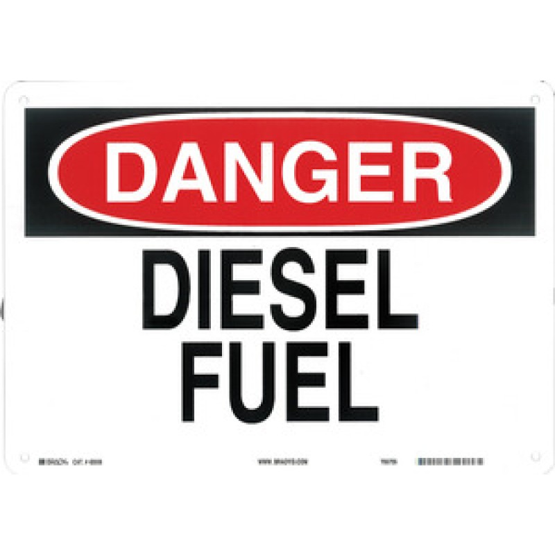 Warning Sign-DANGER DIESEL FUEL<br>Aluminum
