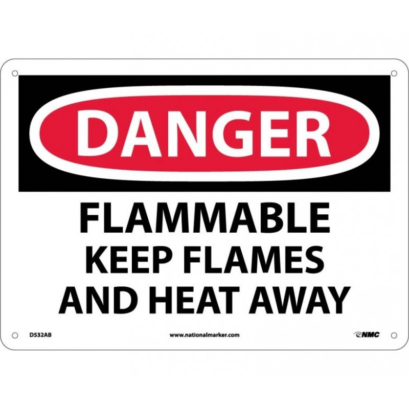 Warning Sign-DANGER FLAMMABLE<br>Plastic