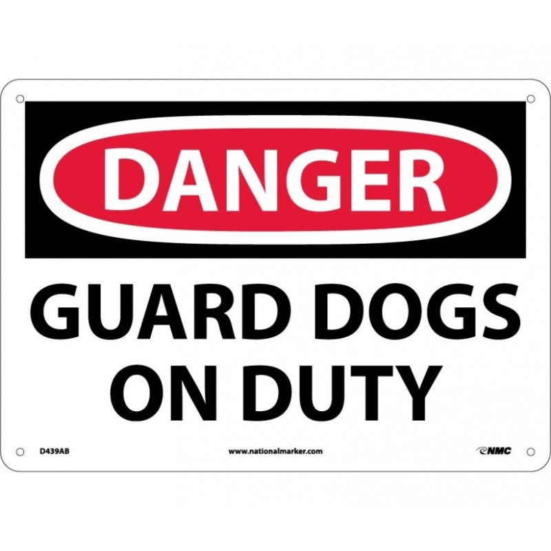 Warning Sign-DANGER GUARD DOG ON DUTY Aluminum