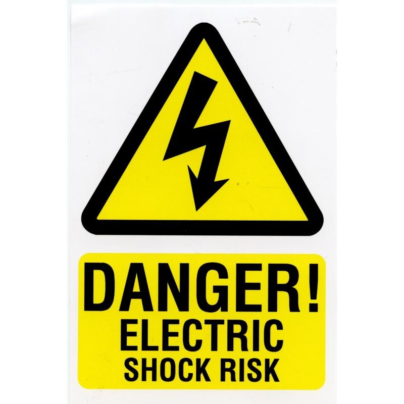 Electric Shock Warning Labels