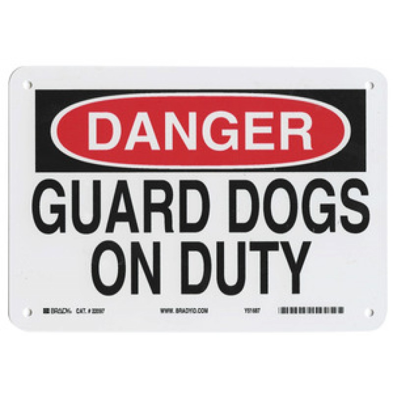 Warning Sign-DANGER GUARD DOG ON DUTY<br>Plastic