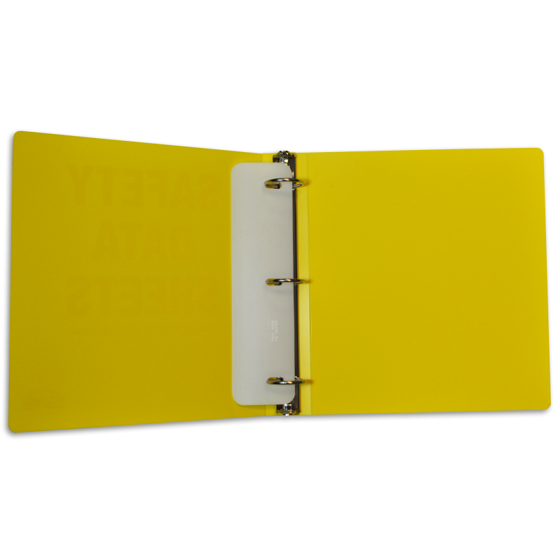 SDS SAFETY DATA SHEET BINDER
