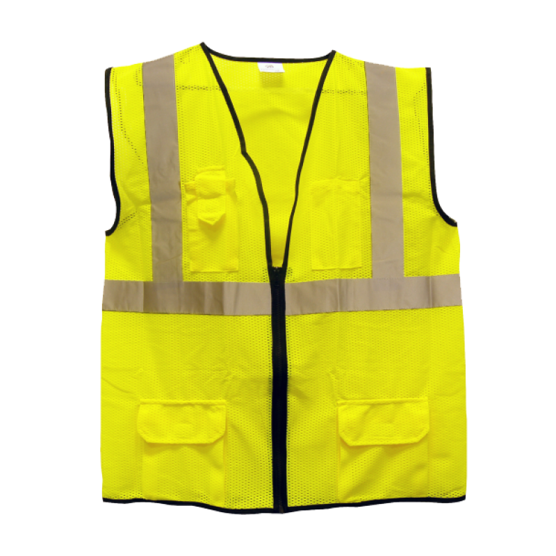 Surveyors Vest - ANSI Class 2 Yellow