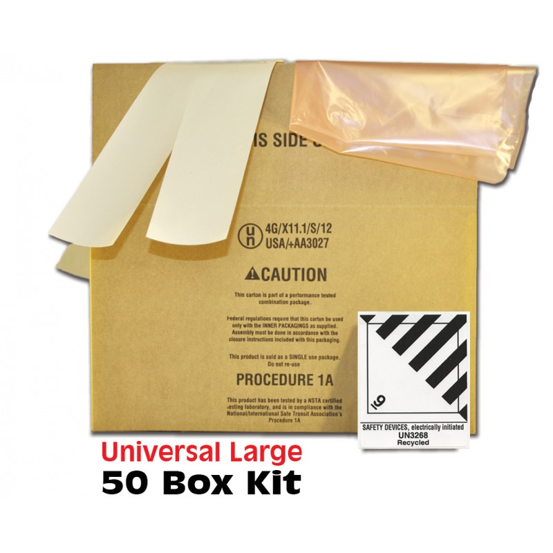 Universal Air Bag Box 24x12x10 Bulk Pack