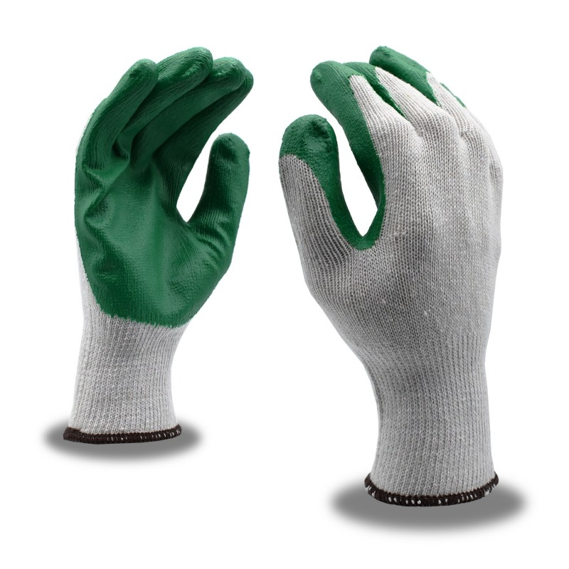 CORDOVA SAFETY 3892 Green Latex Coated Knit Gloves