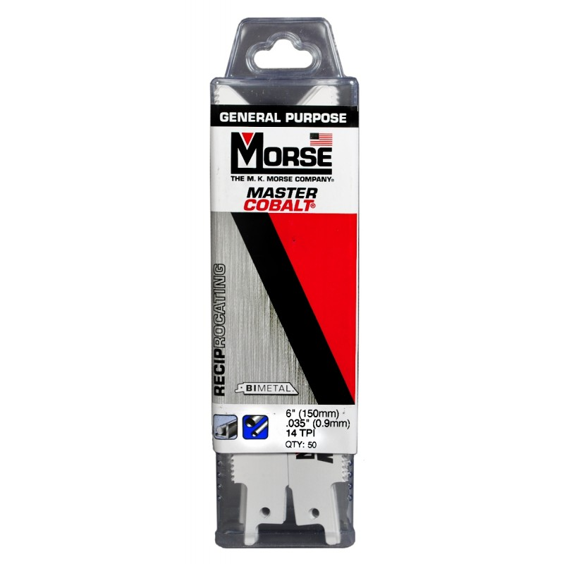 "MORSE Bi-Metal Reciprocating Saw Blade 6""  .035 Thick  14 TPI"