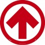 Sign-ARROW WALK ON FLOOR SIGN 10/PK