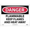 Warning Sign-DANGER FLAMMABLE<br>Aluminum