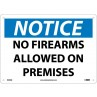 NO FIREARMS ALLOWED ON PREMISE